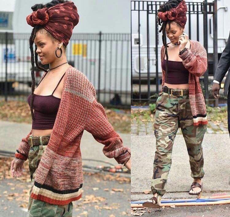 Rihanna On The Set Of Ocean 8 Gottalovedesss Natural
