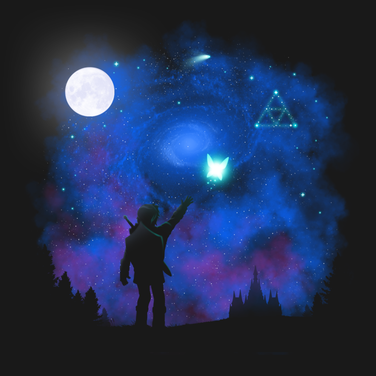 Triforce of nature tshirt