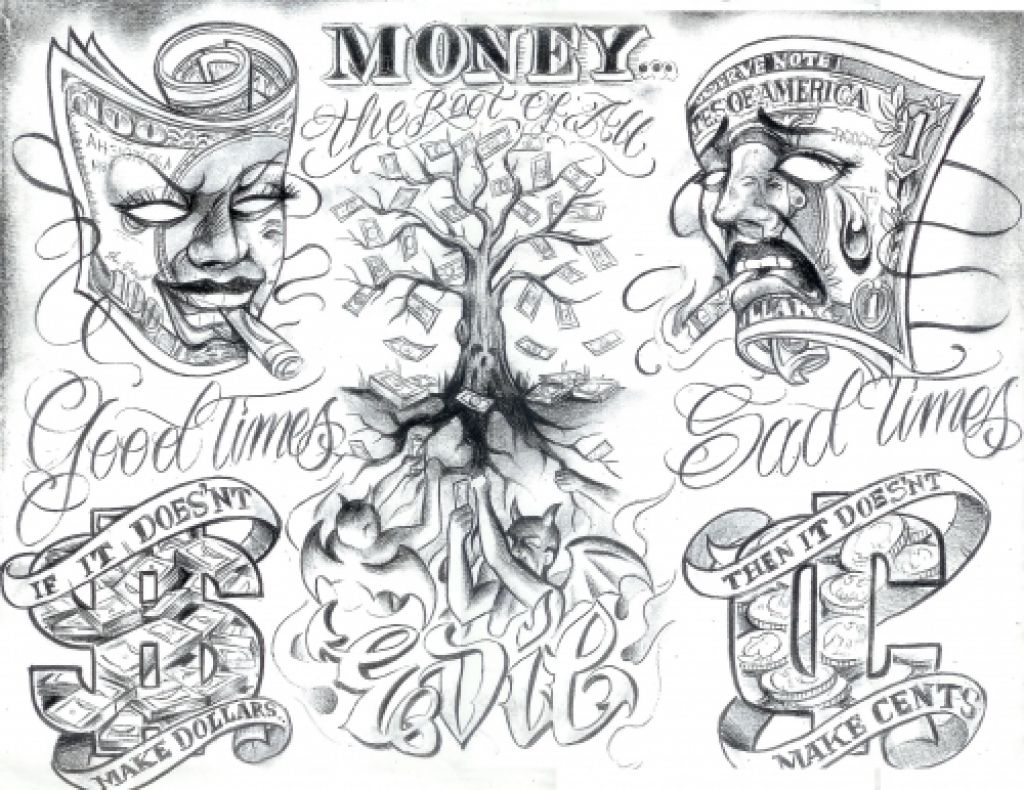 Tattoo Flash Boog 191 Within The Most Awesome Boog Tattoo Artist Intended For Tattoo Inspire Boog Tattoo Gangsta Tattoos Money Tattoo