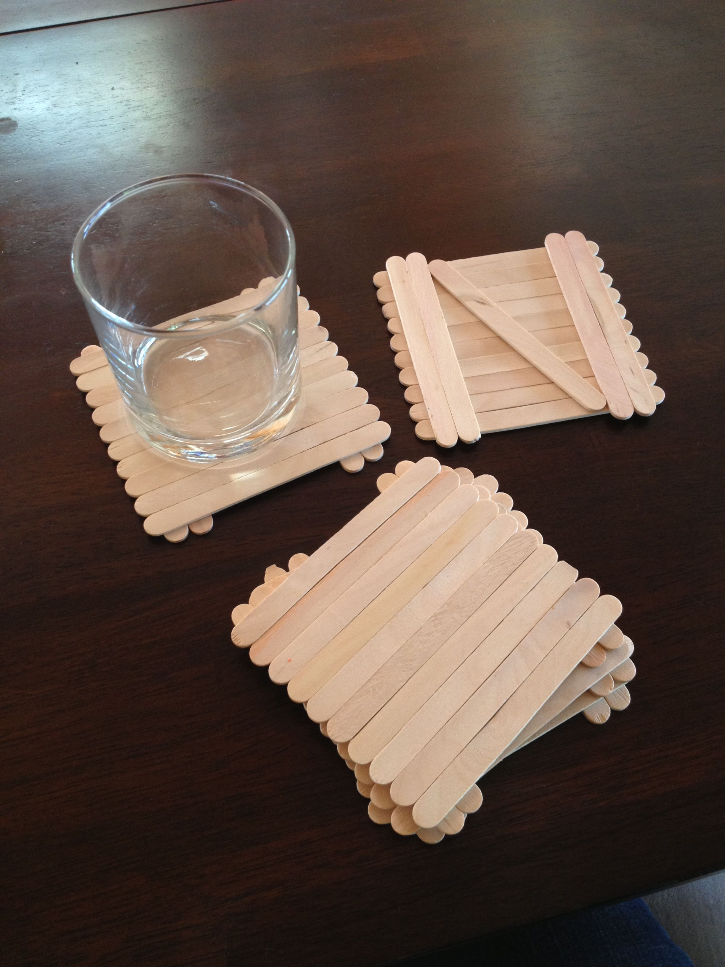 Popsicle stick coasters All you need for 1 coaster 15 popsicle