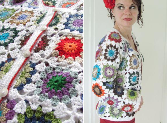 Granny Square Vierkantjes Crochet Haken Hakeln Vest Trui