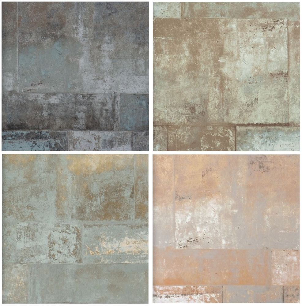 Details zu vlies tapete stein muster mauer bruchstein for Tapete petrol muster