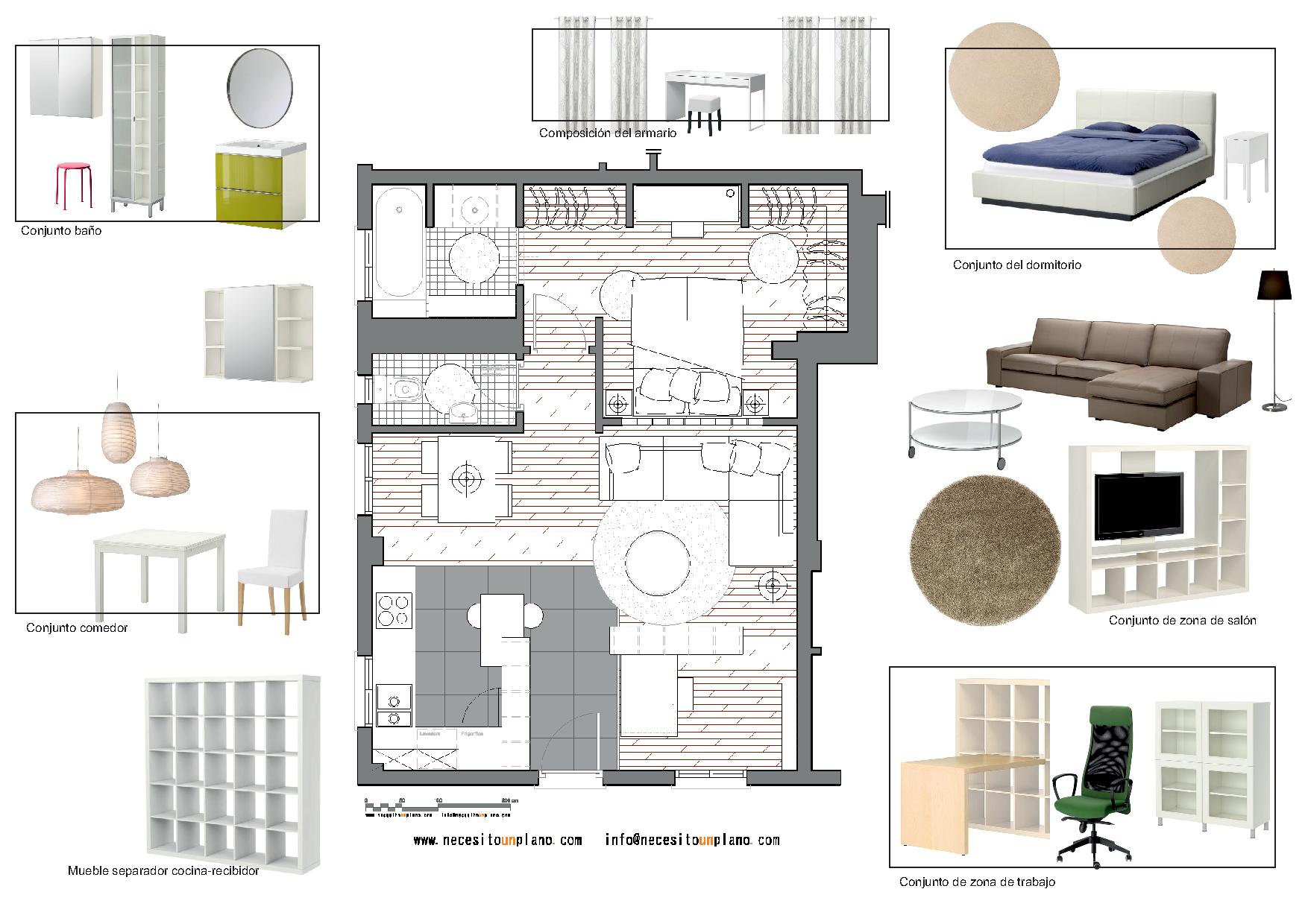 Int planta 1754 1240 detalle for Mobiliario para planos
