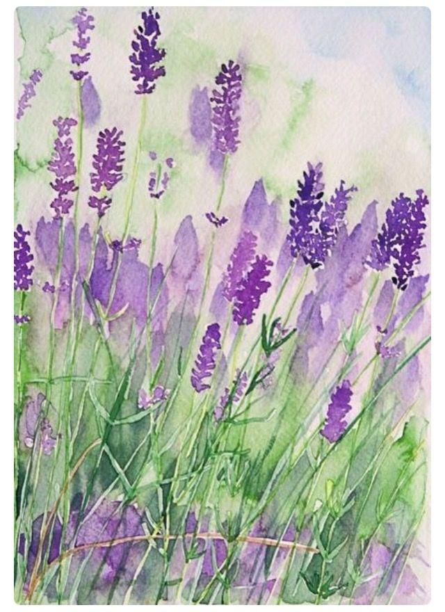 Image Du Tableau Watercolor De Josievintage Peinture Fleurs Art