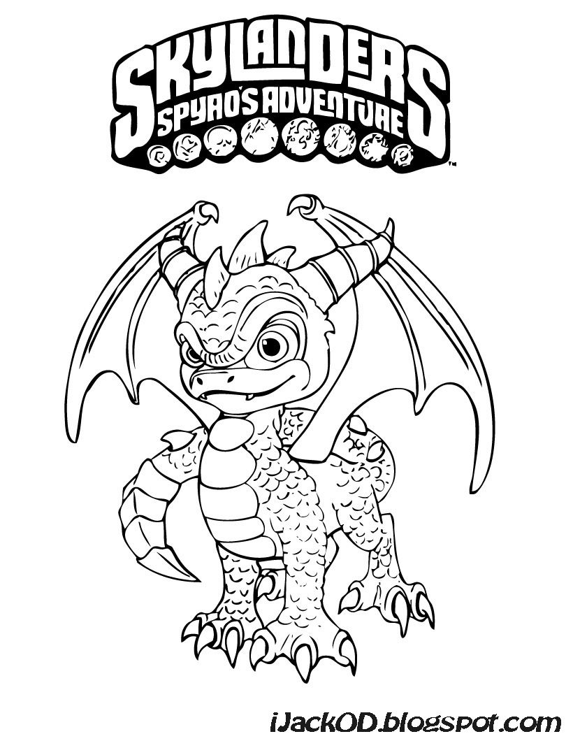 ijack o d colouring pages skylanders spyros adventure colouring pages