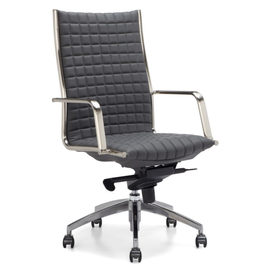 armless back swivel leather white desk office chair mid ribbed chairs upholstered products