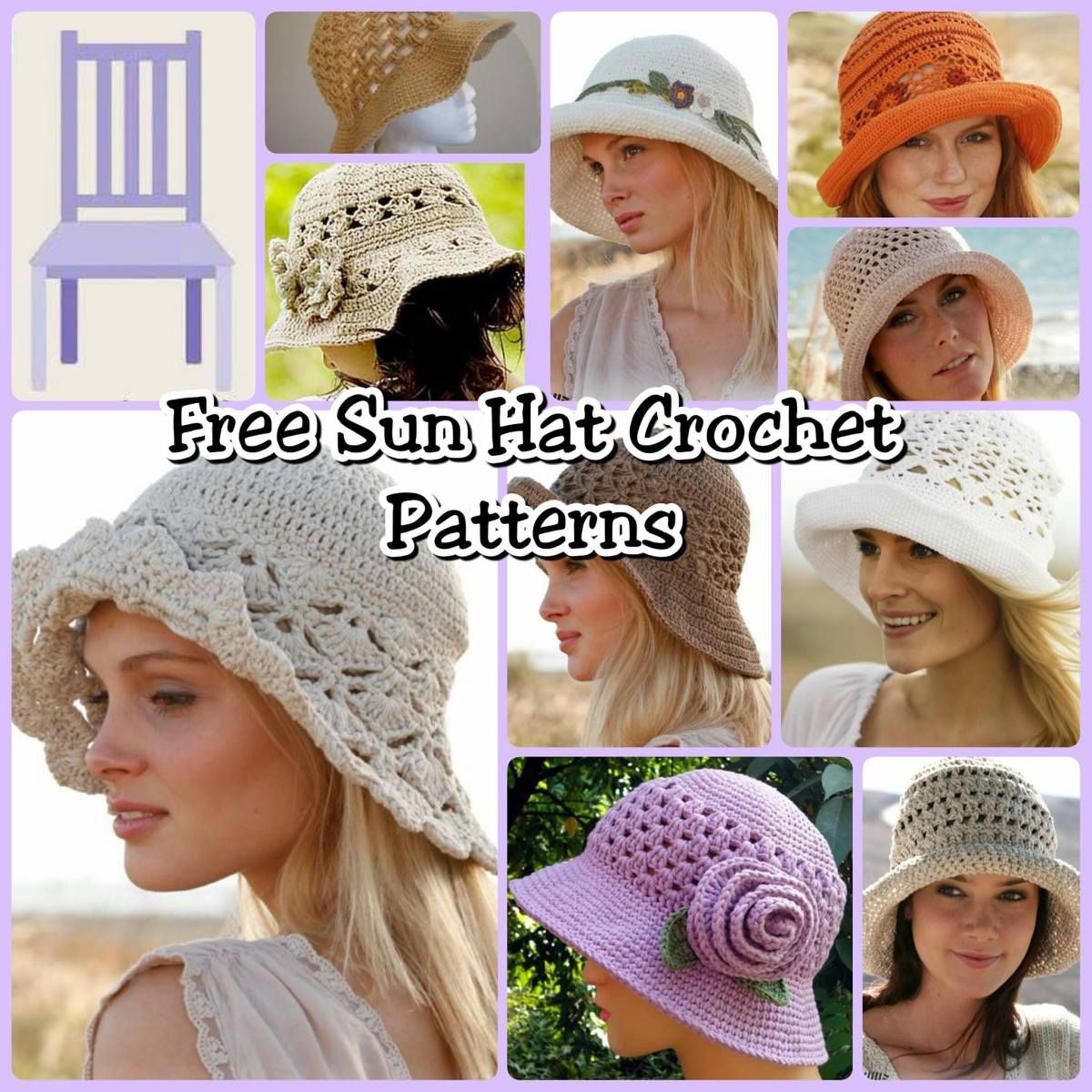 Free Sun Hat Crochet Patterns Crochetknitquilting Crochet Hats