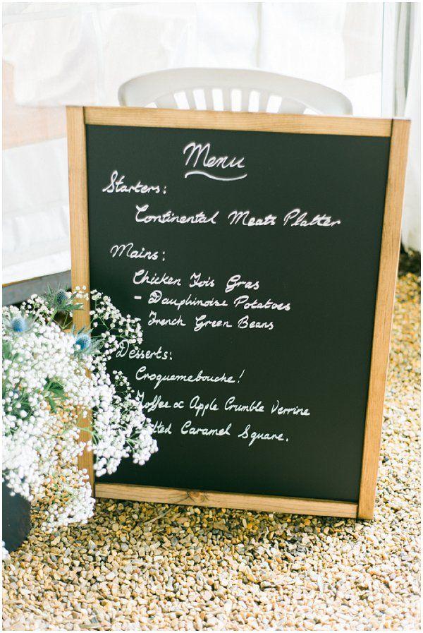 wedding menu sign| Image by Celine Chhuon Photography, see more http://goo.gl/q6BGb9