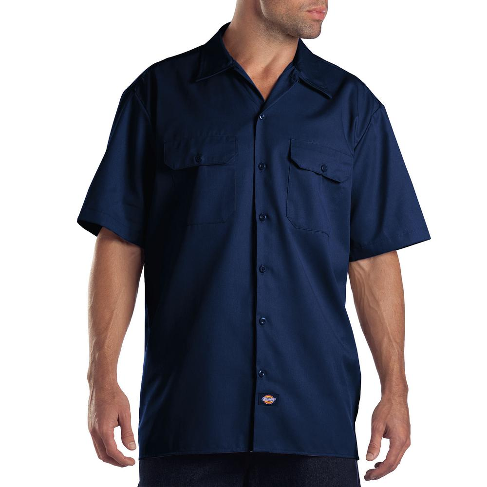 Men/'s Top Sizes S-XXXL Dickies Plain Cotton T-Shirt Navy