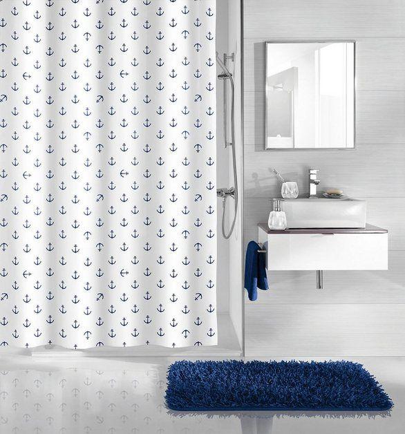 Duschvorhang Anchor Breite 180 Cm Kleine Wolke Duschvorhang