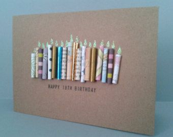 Happy 18th Birthday Candle Card Can Be Personalised