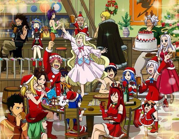 Fairy Tail Christmas 3 Awkward Gray In The Background