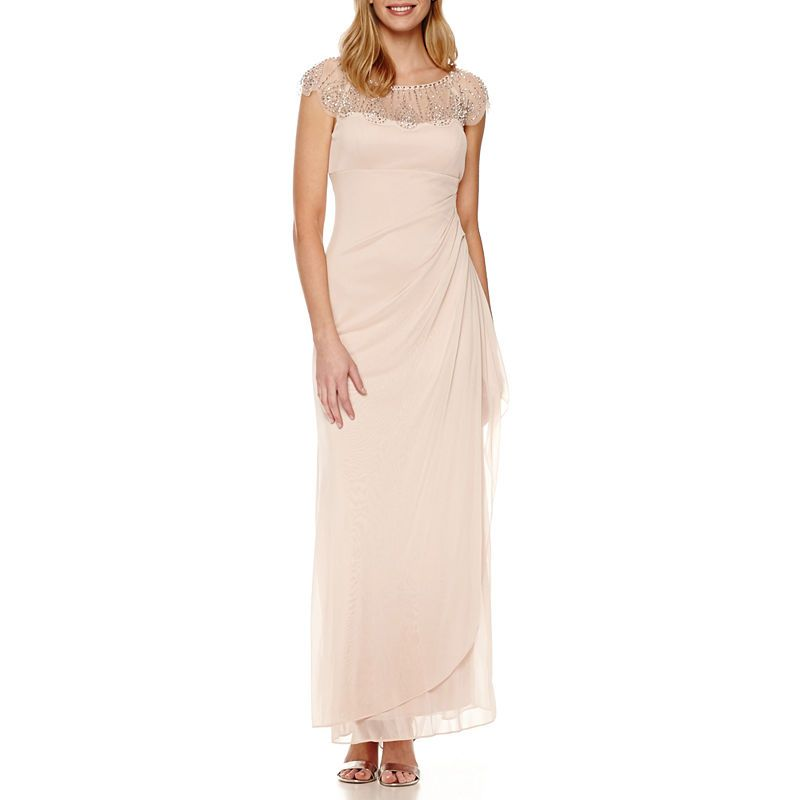 e15baf90 DJ Jaz Cap Sleeve Beaded Neck Evening Gown   Products in 2019 ...