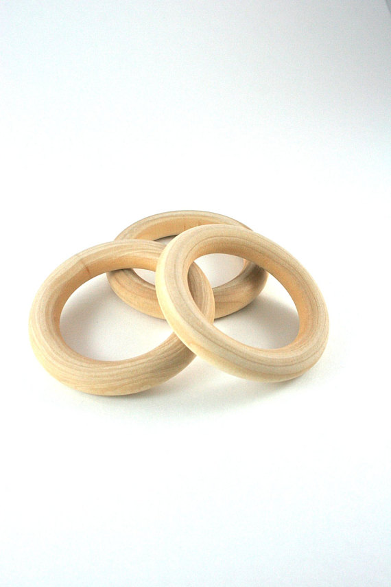 3 Wood Rings 3 Inch Unfinished Wooden Rings For Waldorf