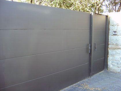 modelo de puerta de hierro sencilla - Pesquisa Google Puertas - Serrure Porte De Garage Basculante Leroy Merlin
