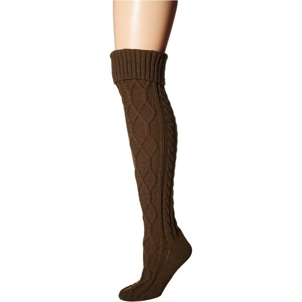 4a8c87d6aa3 Free People Cozy Cable OTK Sock (Olive) Women s No Show Socks ( 18 ...