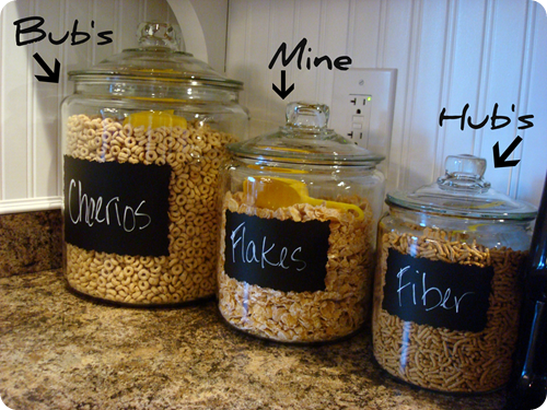 What A Great Idea Glass Jars Cereal Storage Jar