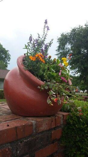 Tilted Mexican Flower Pot Mexican Flower Pots Mexican Flowers Flower Pots