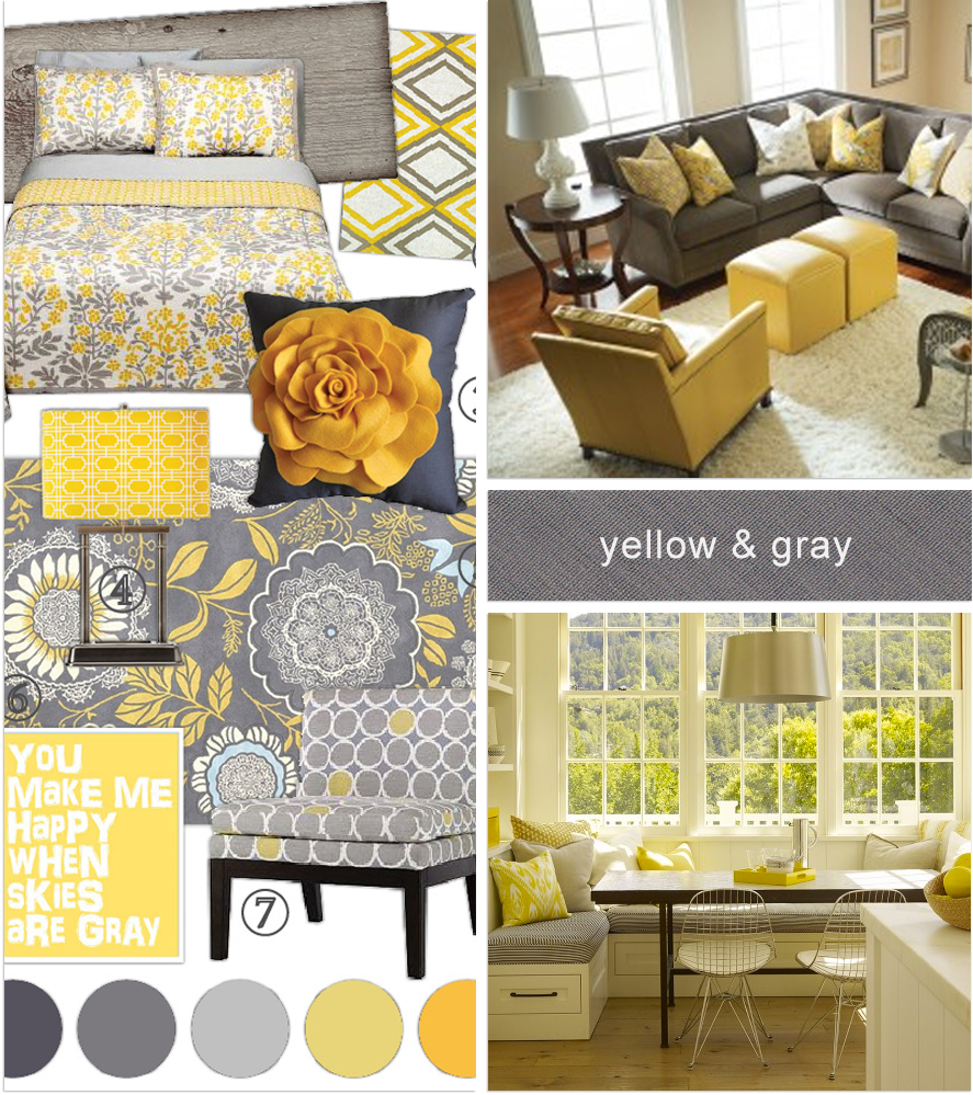 Grey Kitchen And Living Room: Love The Yellow With My Gray Couch!