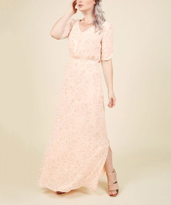 Pale Pink Watercolor Floral Sweetly Swaying Gown