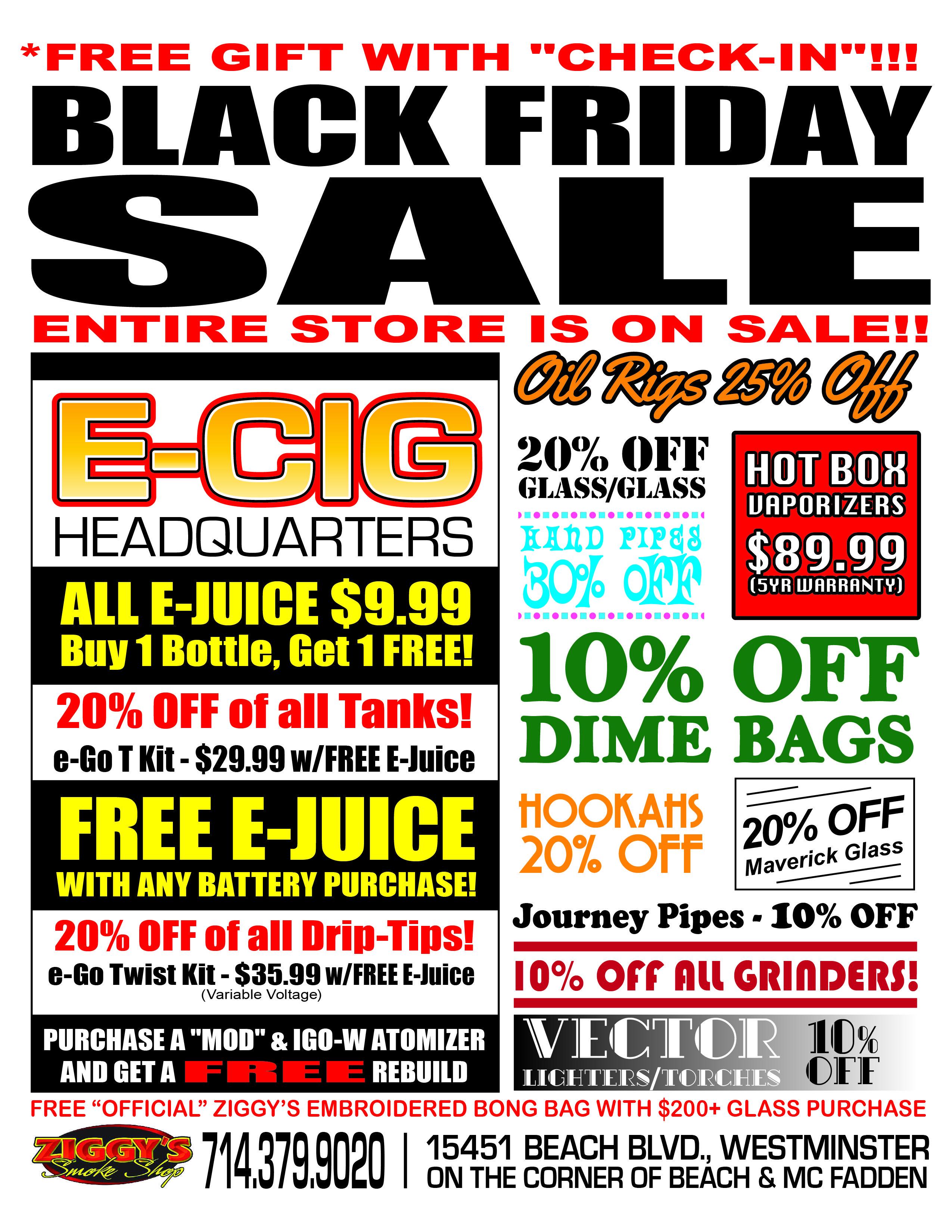 ziggy u0026 39 s smoke shop black friday flyer    ziggys  smokeshop  blackfriday  sale  flyer