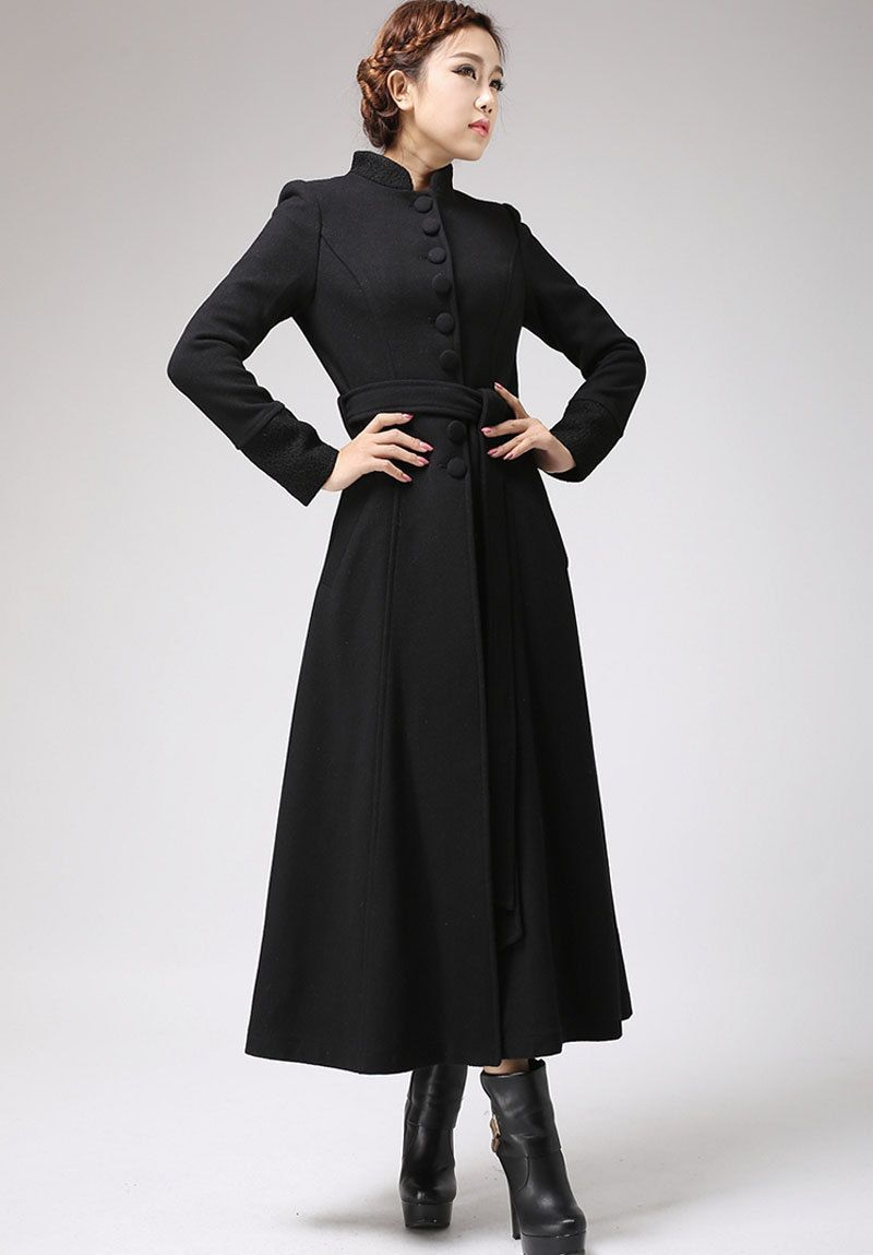 dress coat | Womens Coats | Pinterest | Black dress coat, Dresses ...