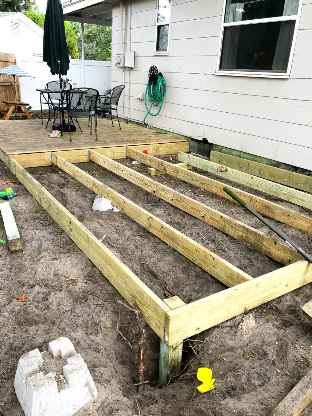 How I Built My Diy Floating Deck For Less Than 500 Building A