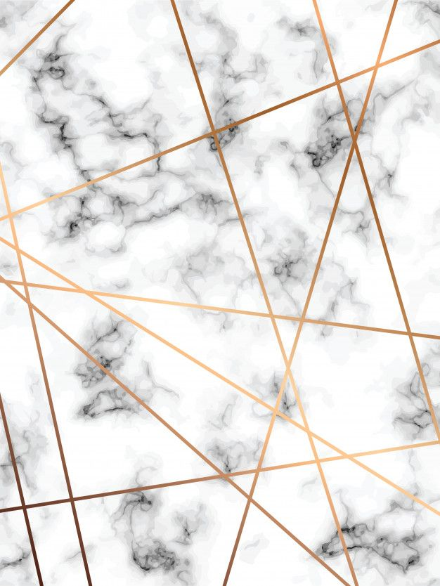 marble texture design with golden geometric lines, black and white marbling surface Premium Vector
