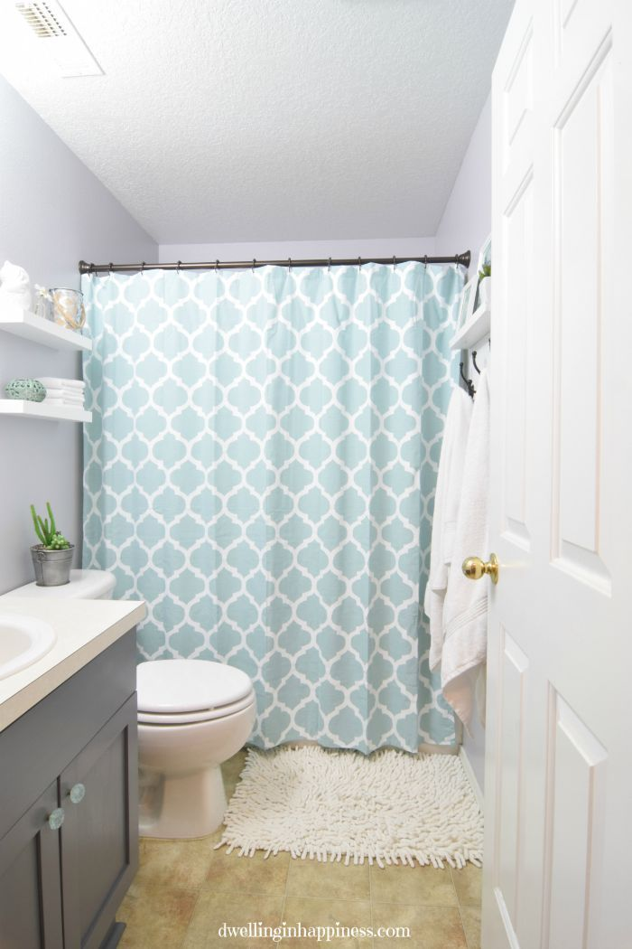 Light Bright Guest Bathroom Makeover The Reveal Redick