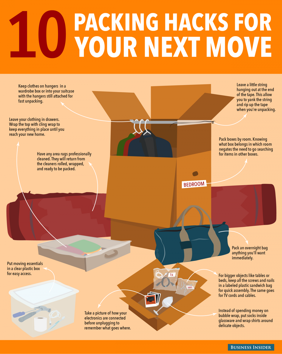 10 packing hacks for your next move make your move moving tips moving house tips moving house. Black Bedroom Furniture Sets. Home Design Ideas