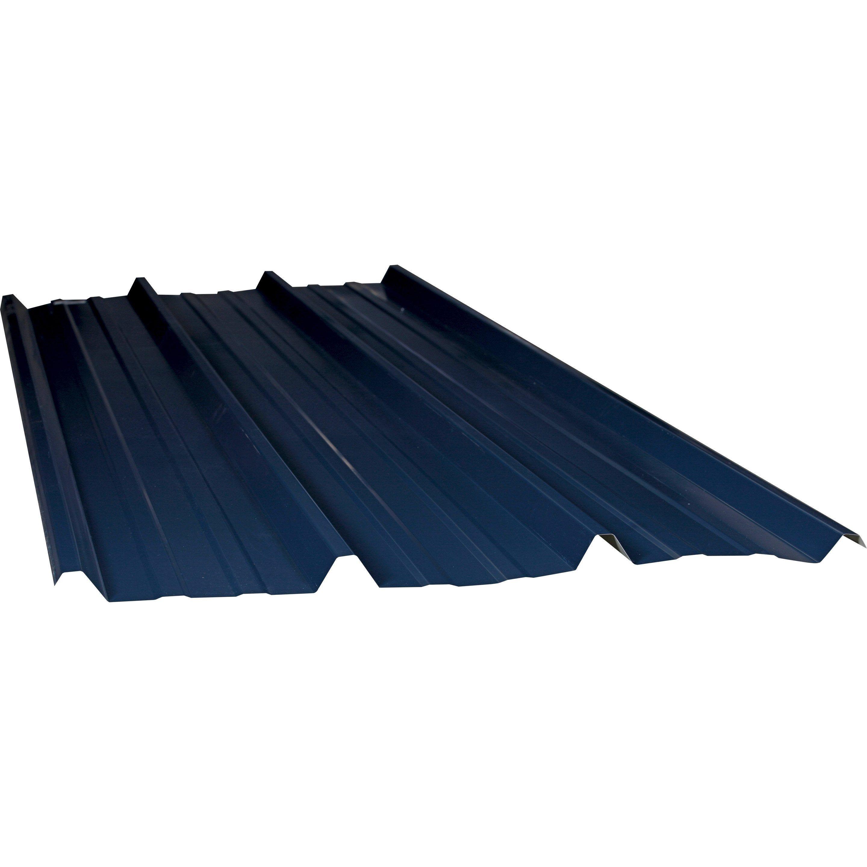 Plaque De Toiture Nervuree Acier Galvanise Bleu L 1 05 X L 3 M Ondometal Toiture Bardage Aluminium Et Acier Galvanise