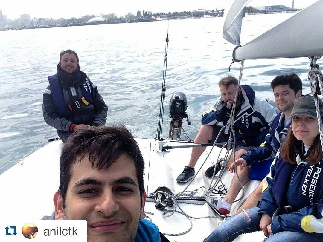 #Repost @anilctk with @repostapp  #sailboat #training #kalamışmarina #poseidonyelken haftasonlarını boş geçmiyoruz. yaza hazırlık. by poseidon_yelken