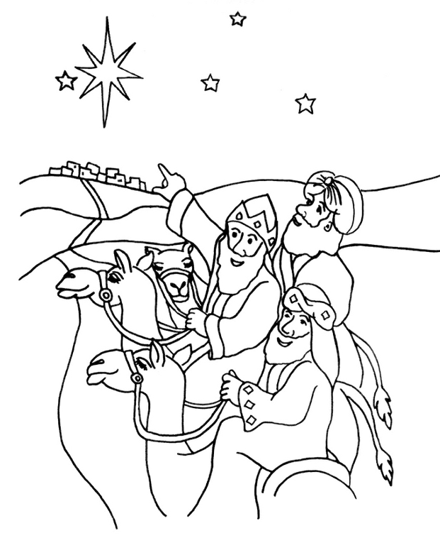 wise+men.png (621×758) | Nativity coloring pages, Coloring ...