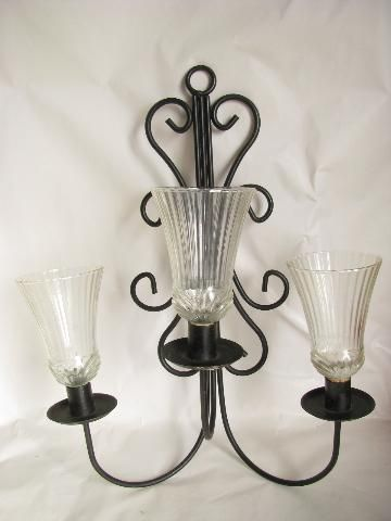 black iron candelabra wall sconces vintage candle sconce pair : black iron sconces - www.canuckmediamonitor.org