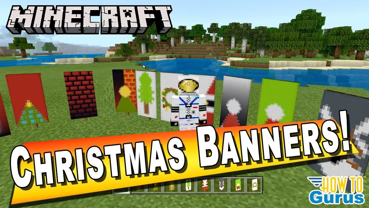 How to Make Minecraft Banner Designs for Christmas - Minecraft Bedrock a... | Minecraft banner ...