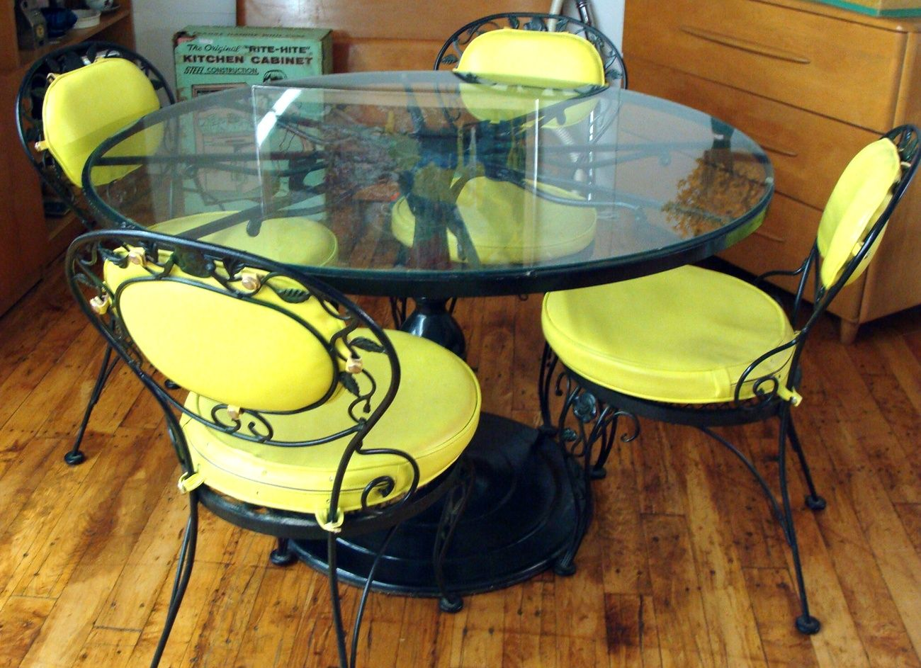 wrought iron patio table and 4 chairs. Black Green Woodard Chantilly Rose Pedestal Glass Top Patio Table 4 Chairs Wrought Iron And I