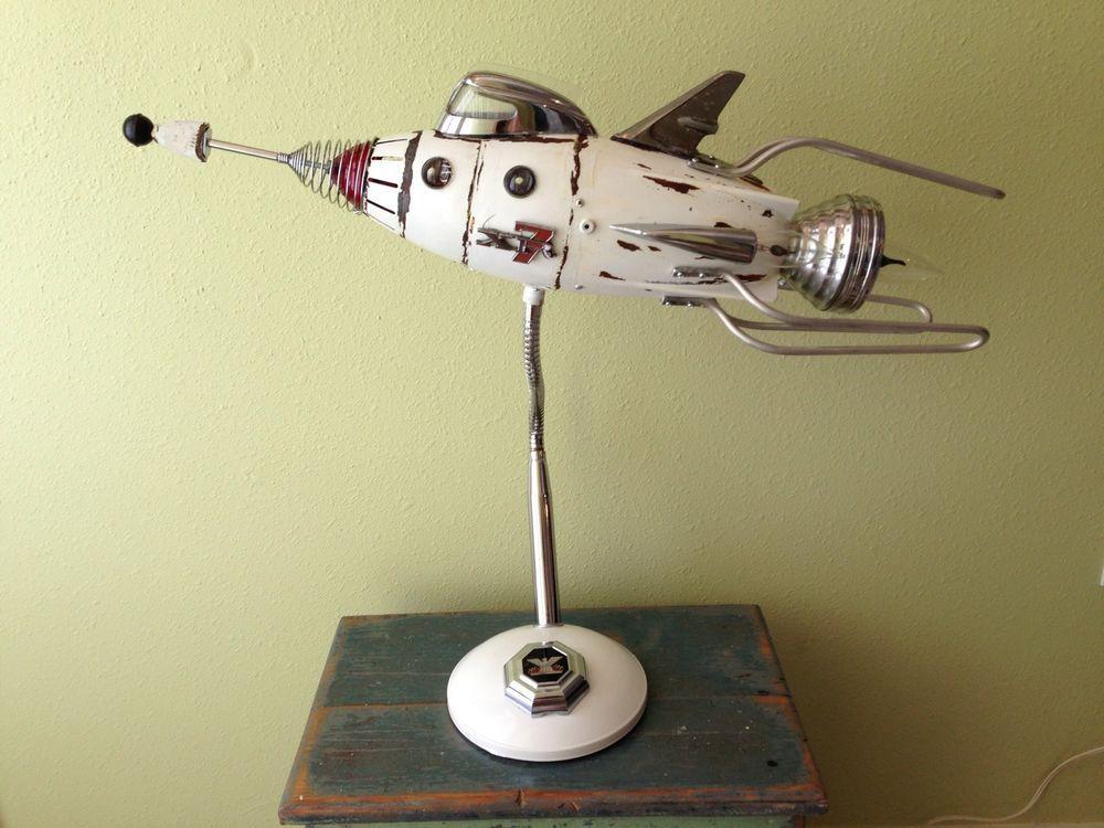 robot sculpture / Spaceship Lamp | Spaceship, Robot and Sci fi