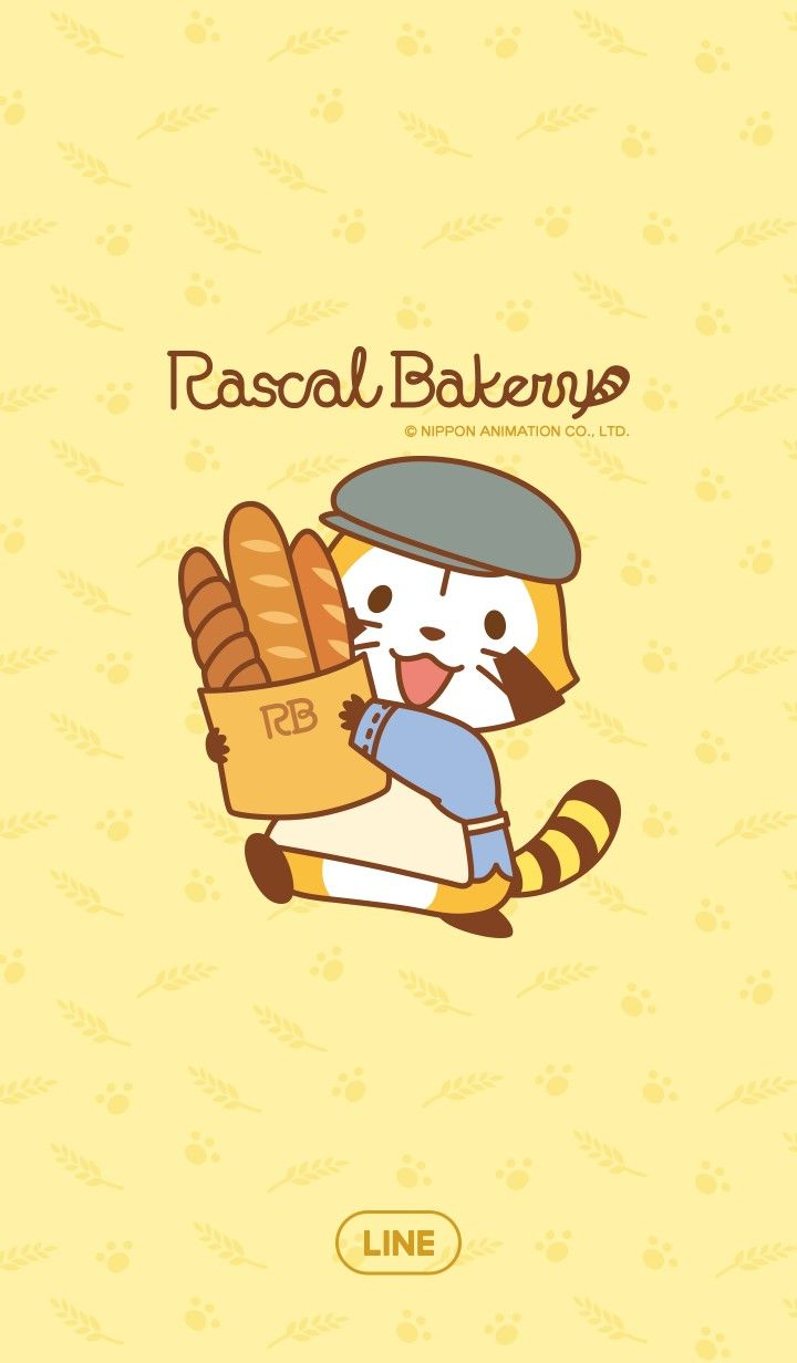 Rascal Line Wallpaper Raccoon あらいぐま ラスカル 浣熊