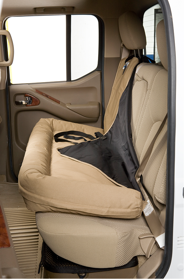 Canine Covers Back Seat Dog Bed Combines a padded bed