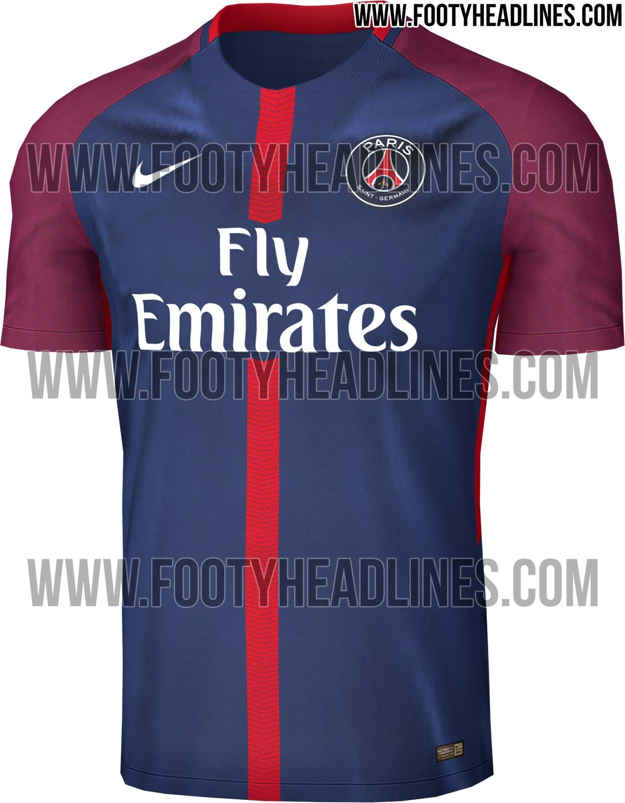 The PSG home kit introduces a more vibrant, bolder look than most recent  ones. It's once again made by long-term PSG jersey supplier Nike.