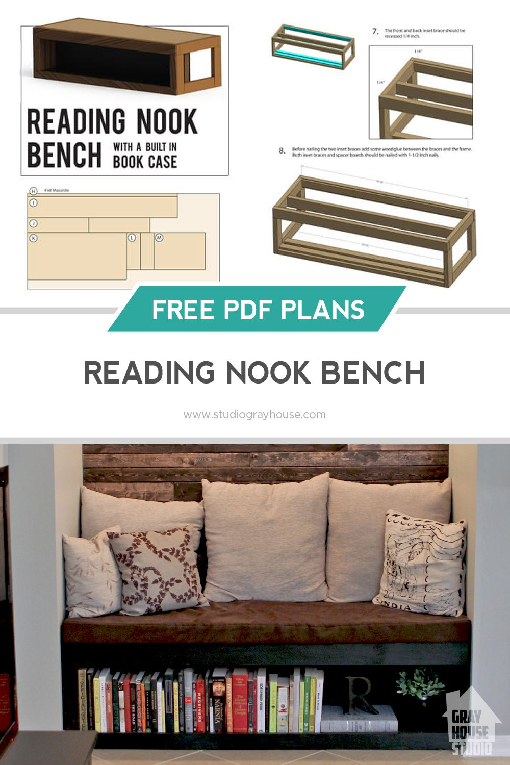 Plans For Reading Nook Bench Woodworking Reading Nook Bedroom