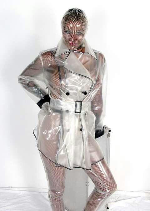 Lesbian raincoat bondage