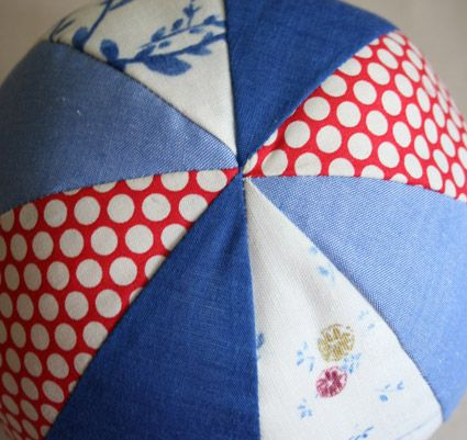 Fabric Beach Balls - The Purl Bee - Knitting Crochet Sewing Embroidery Crafts Patterns and Ideas!