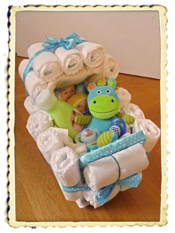 windelkinderwagen anleitung basteln diaper cakes. Black Bedroom Furniture Sets. Home Design Ideas