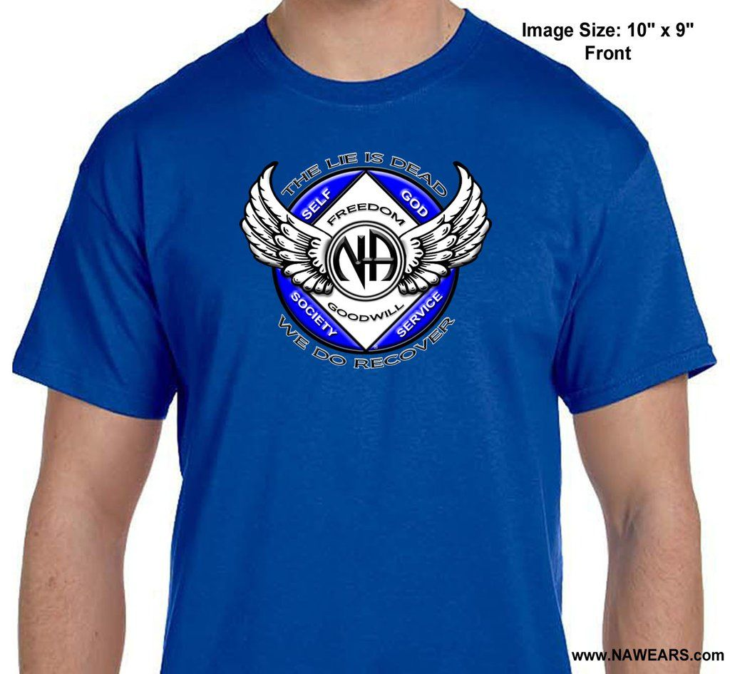 Narcotics Anonymous Winged Na Symbol Unisex Tee Unisex Tee Mens Tops Tees