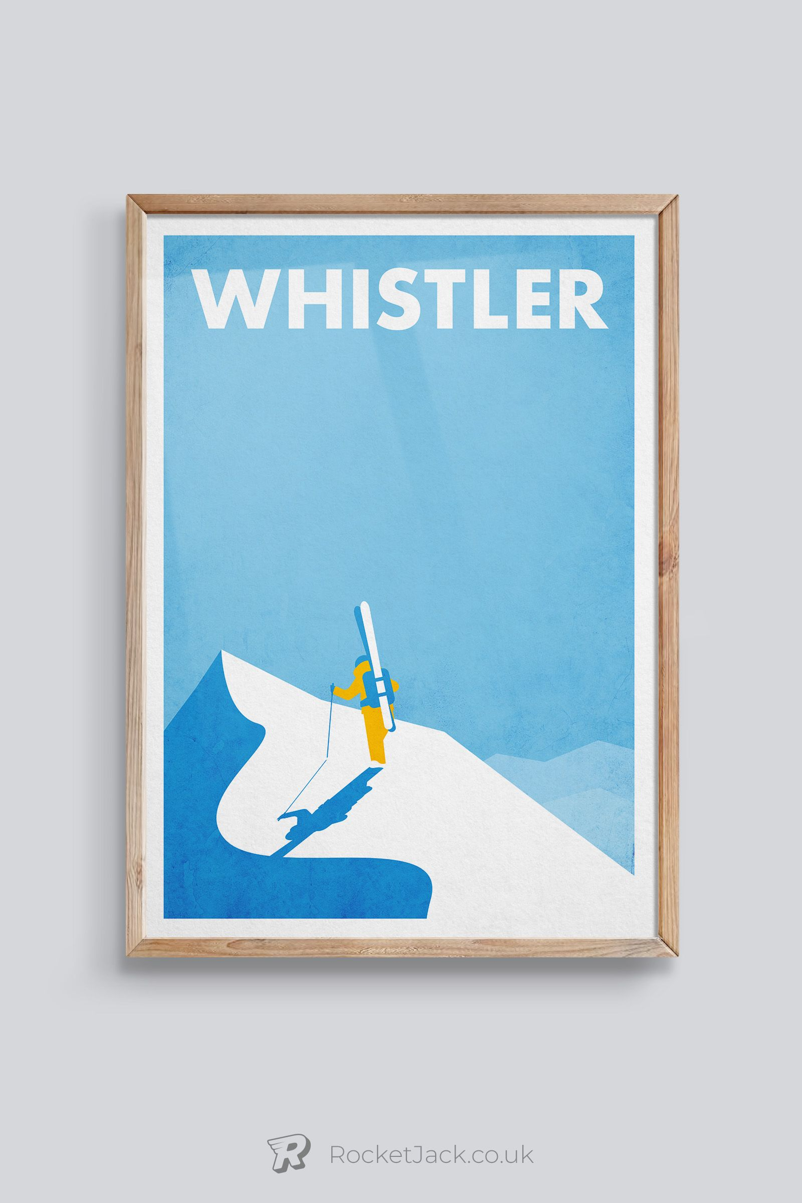 Personalised ski art ski gift vintage travel poster skiing poster