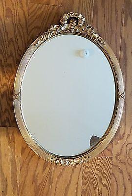 Vintage Carolina Mirror Co Gold Oval 24 X 18 Embellished Stunning