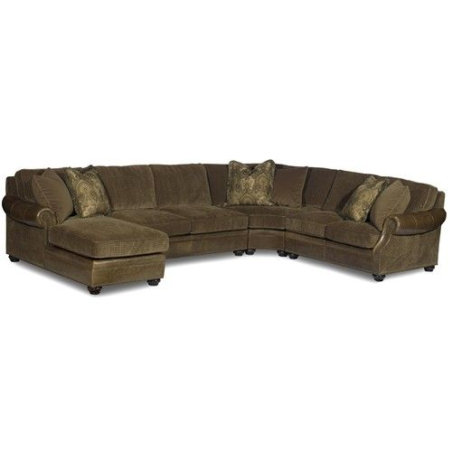 Warner Sectional Air Dream Sleeper Sofa With Left Side Chaise By Bradington Young Baer S