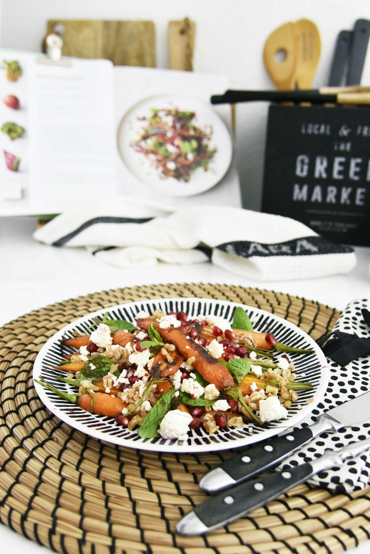 Buchtipp & Rezept für Möhren-Körner-Salat aus Jamies 5 Zutaten Küche ...