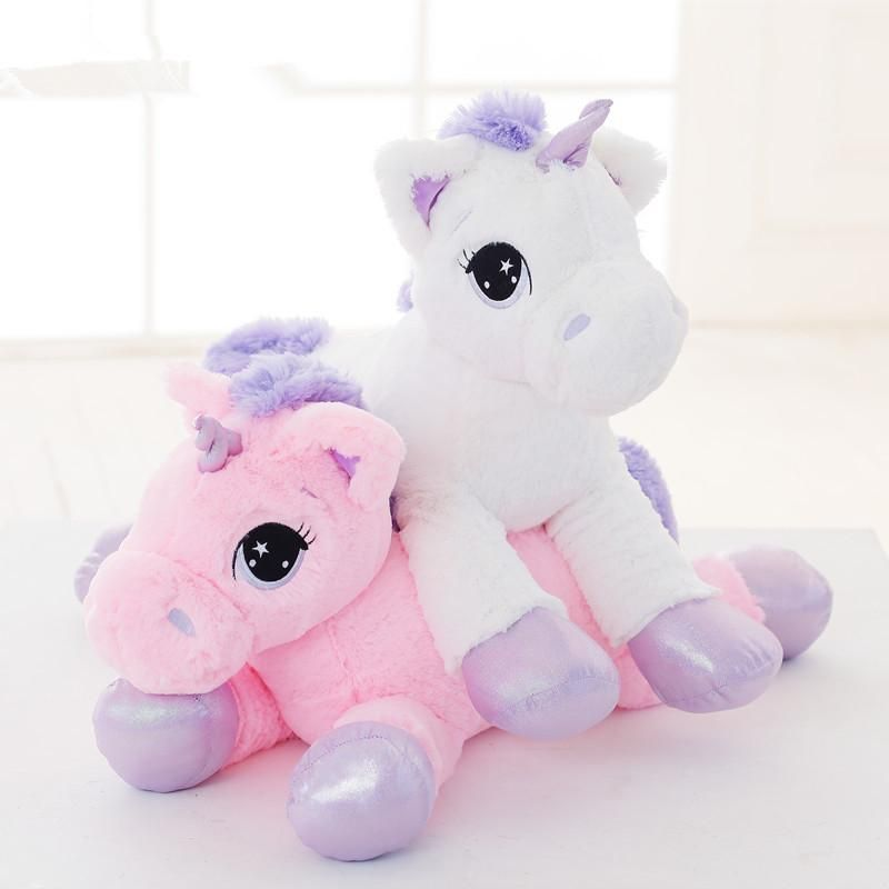 07d3e444cf6c2 These adorable oversized fluffy unicorn plushies are all the rage for  littles